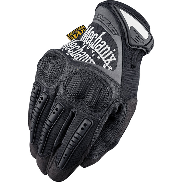 M-Pact 3 Glove, Ultra Knuckle Protection, Black, Medium