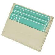 Premium Cream Soft Genuine Leather Simple Credit Card Holder
