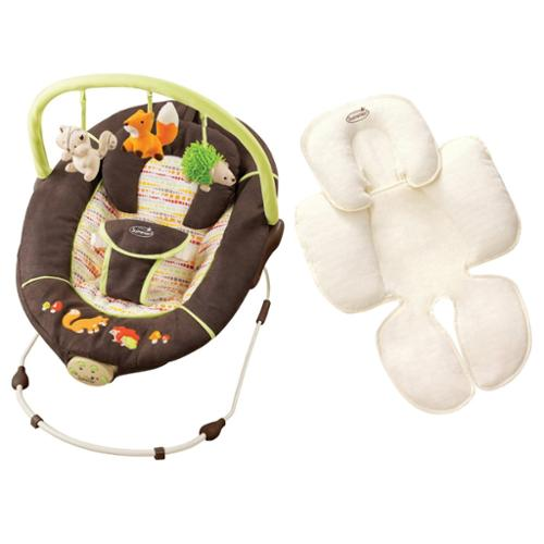 Summer Infant Fox & Friends Musical Bouncer with Snuzzler Infant Support
