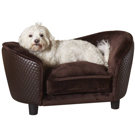 Enchanted Home Pet Ultra Plush Snuggle Dog Sofa Small Brown