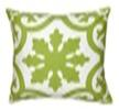 """Rizzy Home Decorative Poly Filled Throw Pillow Medallion 18""""X18"""" Lime Green"""