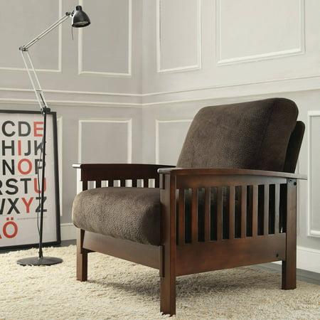 Dark Brown Accent Chair (Weston Home Mission Dark Brown Champion Accent Chair, Mission Accent Chair)