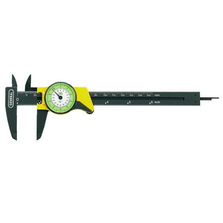 Plastic Calipers - General Tools 142 6-Inch English and Metric Plastic Dial Caliper
