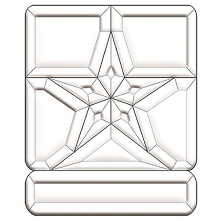 Stained Glass Supplies - United States Army Emblem Bevel Cluster EC280 By Exquisite Cluster Ship from US