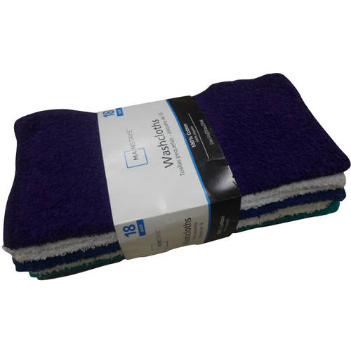 Mainstays Washcloth Collection, 18 Count
