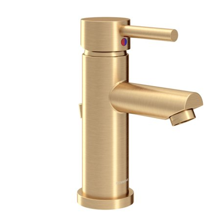 Dia Single Hole Single Handle Bathroom Faucet with Drain Assembly in B