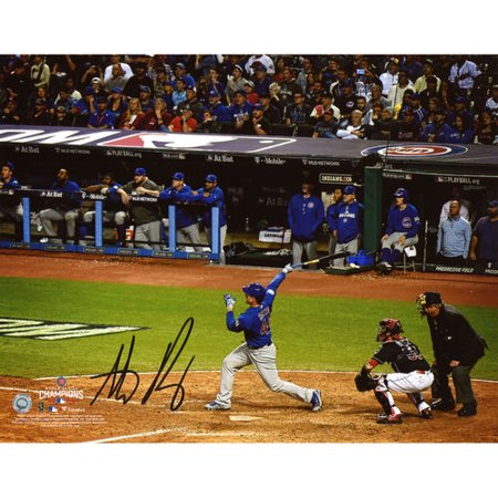 Anthony Rizzo Chicago Cubs 2016 Mlb World Series Champions Autographed 8   X 10   World Series Photograph