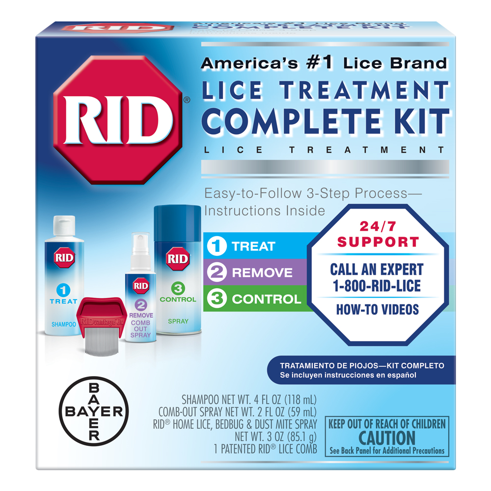 RID Lice Complete Treatment Kit to Kill Lice In Hair and Home ...