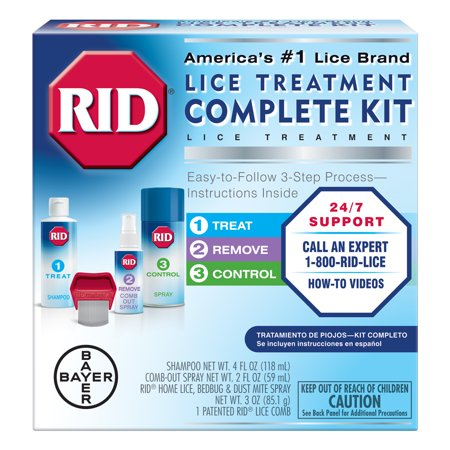 Complete Lice (RID Lice Complete Treatment Kit to Kill Lice In Hair and)
