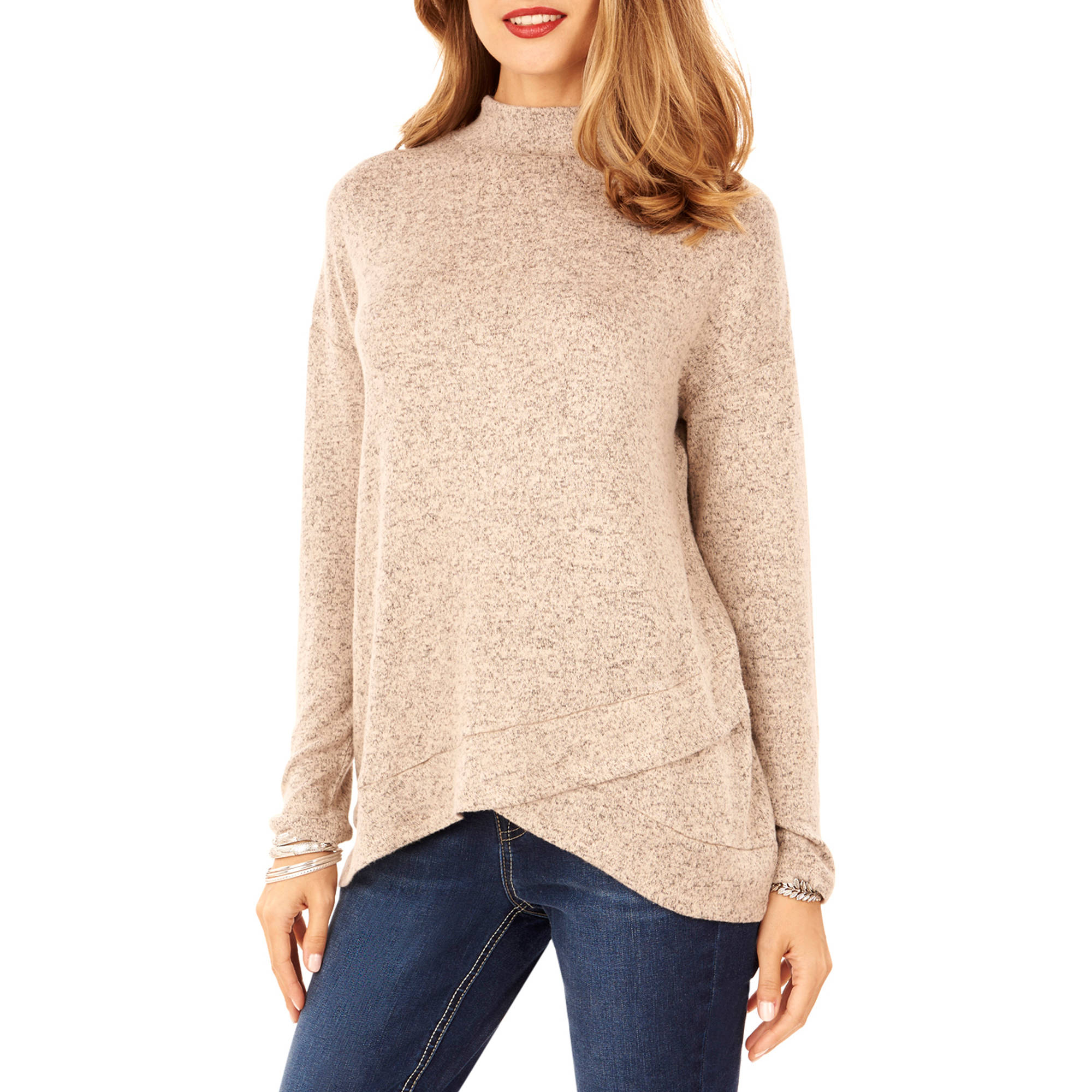 Women's Brushed Marled Hacci Sweater