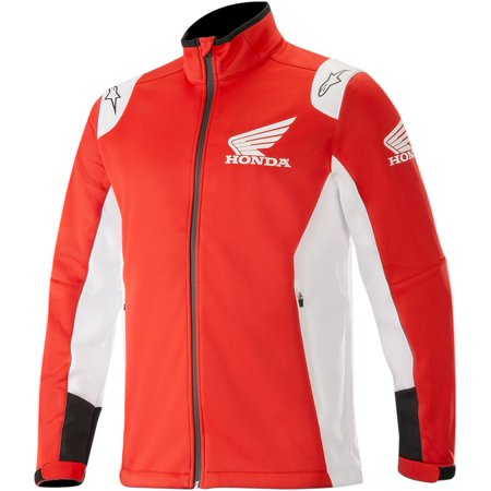 Alpinestars Honda Mens Softshell Jacket Red/White Honda Performance Textile Jacket