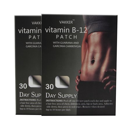 Vitamin B12 Fitness Slimming Guarana Patch - 60 Days Supply (B Stock Supply)