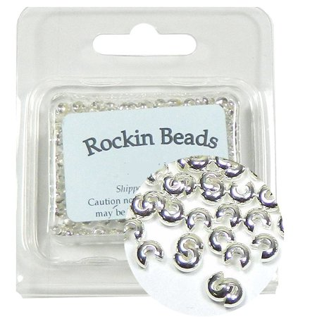 200 Crimp Knot Cover Silver-plated Brass Makes 5mm Round Bead