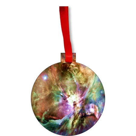 Ornament Dog I Love You - Pawsitively Luv U Beagle Puppy and Pawprints Round Shaped Flat Hardboard Christmas Ornament Tree Decoration - Unique Modern Novelty Tree Décor - Puppy Luv