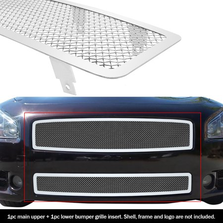 2002 Nissan Maxima Grill (Compatible with 2009-2014 Nissan Maxima Stainless Steel Mesh Grille Grill Combo Insert N77774T )