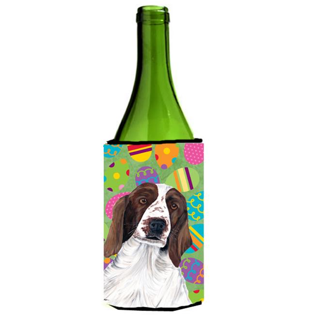 Carolines Treasures SC9460LITERK Welsh Springer Spaniel Easter Eggtravaganza Wine Bottle   Hugger - 24 oz. - image 1 of 1