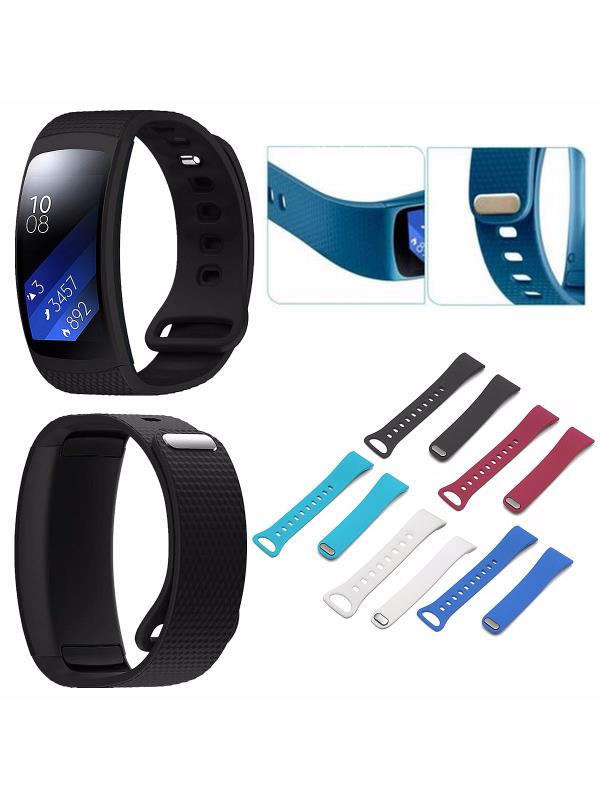 Adjustable Replacement Soft Silicone Wristband Watch Band Strap For Samsung Gear Fit 2 Tracker