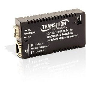 Transition Networks Hardened Mini 10/100/1000 Bridging Media Converter - 1 x Network (RJ-45) - Gigabit Ethernet - 10/100/1000Base-TX, 1000Base-X - 1 x Expansion Slots - SFP - 1 x SFP Slots - Wall - Network Scanner Expansion Kit