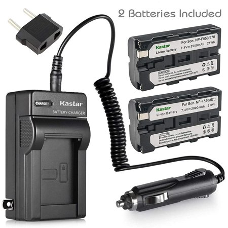 Kastar NP-F570 Battery (2-Pack) and Charger Kit for Sony L Series InfoLithium Battery NP-F570, NP-F550, NP-F530, NP-F330 and Sony DCRVX2100, HDRFX1, HD1000U, HVRZ1U, HXR-NX5U, NEX-FS100 Cameras (Sony Fs100)