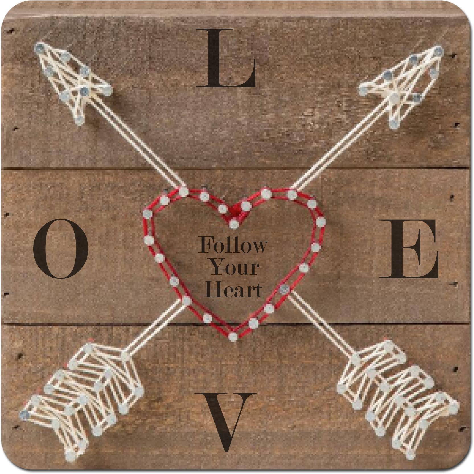 Better Homes & Gardens Follow Your Heart Wood Hanging Wall Art