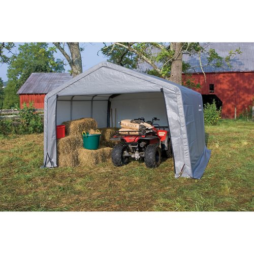 Shed-in-a-Box 12' x 12' x 8' Peak Style Storage Shed, Gray