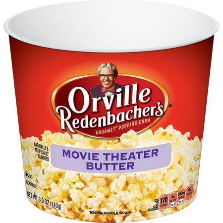 ((3 Pack) Orville Redenbacher's Microwave Popcorn Tub, Movie Theater Butter, 3.9 Oz)