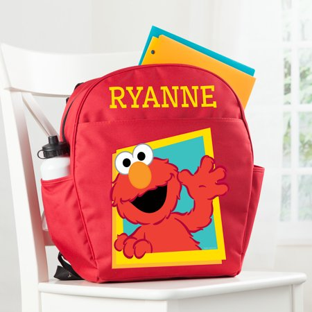 - Personalized Sesame Street Red Toddler Backpack - Hello Elmo