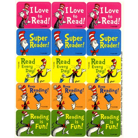 CAT IN THE HAT READING SUCCESS STICKERS