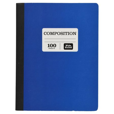 Pen + Gear 100 Sheet Composition Notebook, Wide Ruled