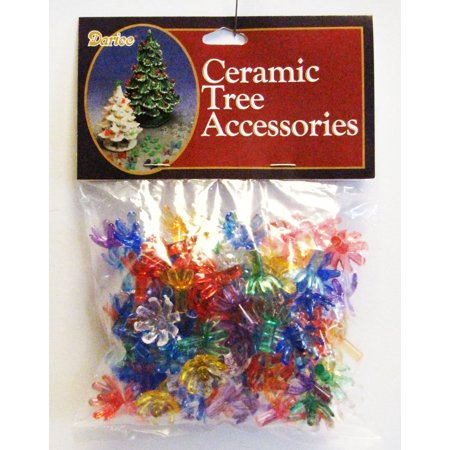 Replacement Ceramic Christmas Tree Lights: Colored, Flower Shaped, 5/8 inch](Flower Christmas Lights)