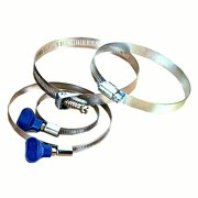 "WoodRiver Hose Clamps, 2-1/2"" Keyed, (2)"