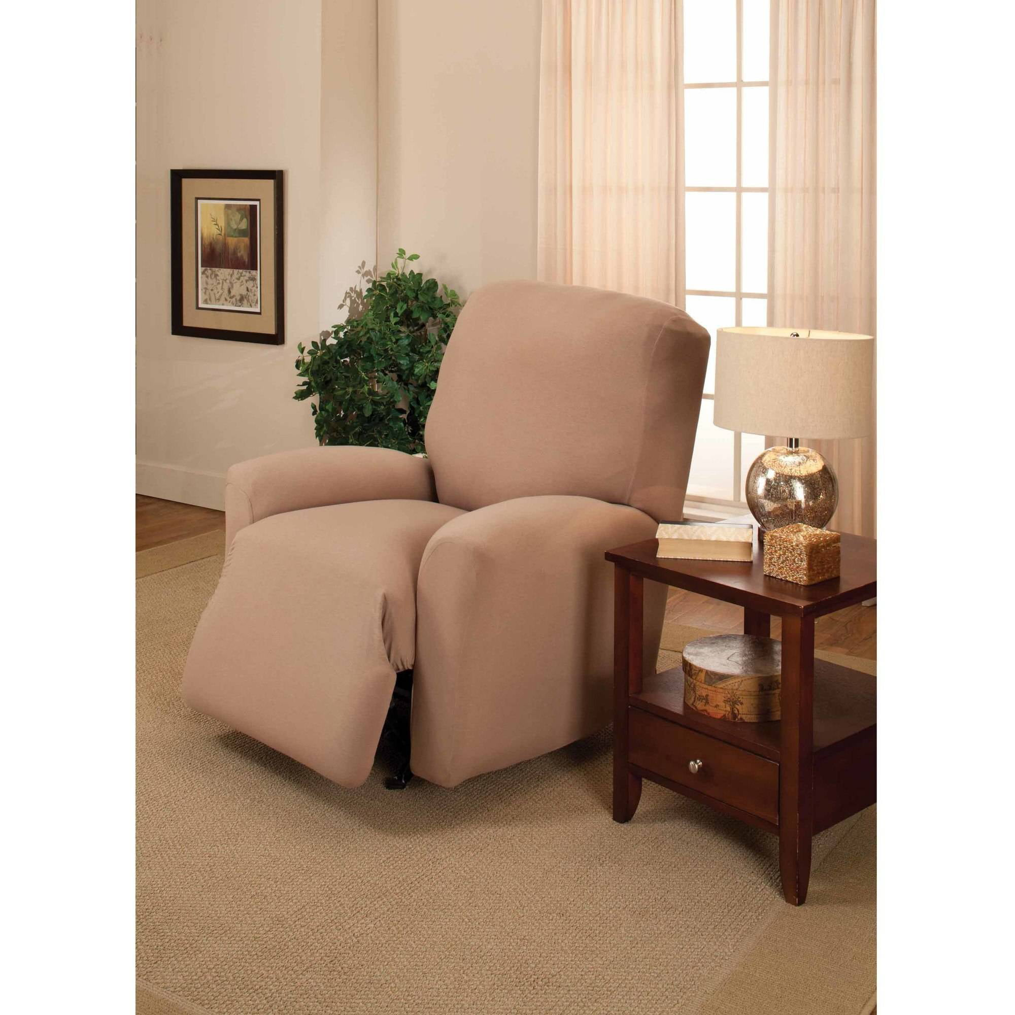Jersey Stretch Large Recliner Slipcover  sc 1 st  Walmart : lane recliner slipcovers - islam-shia.org