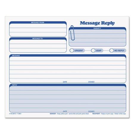 Tops Rapid Letter Message Memos Form  8 5  X 7   3 Part Carbonless  50 Forms