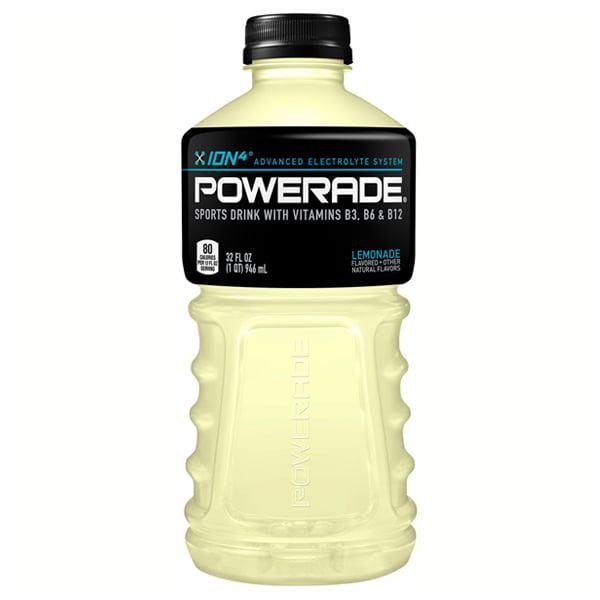Powerade Lemonade Sports Drink 32 oz Plastic Bottles - Pa...