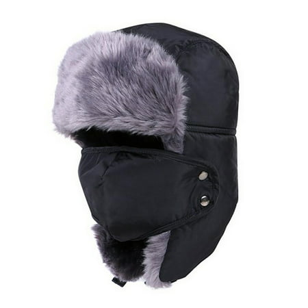 - Coxeer Windproof Trapper Hats Warm Earflap Face Mask Trooper Hat Winter Hats for Women & Men