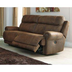Astonishing Ashley Furniture Oberson Fabric Reclining Power Sofa In Gunsmoke Alphanode Cool Chair Designs And Ideas Alphanodeonline