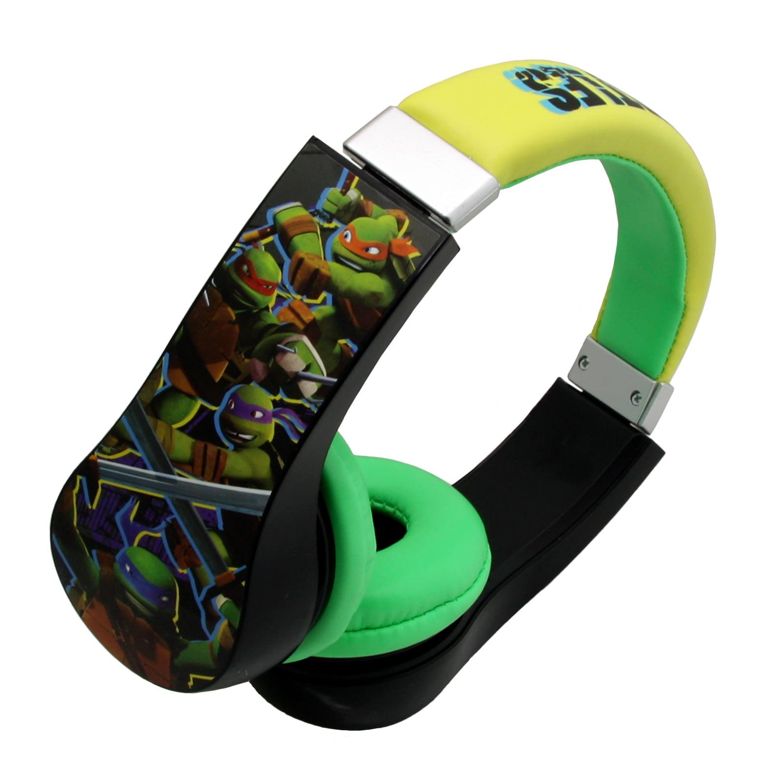 Teenage Mutant Ninja Turtles Kids Friendly Cushioned Headphones with Volume Limiter by Nickelodeon