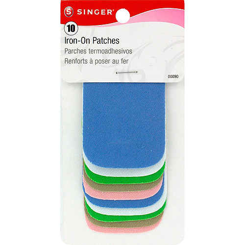 "Singer 2"" x 3"" Iron-On Patches, 10pk, Light Assortment"