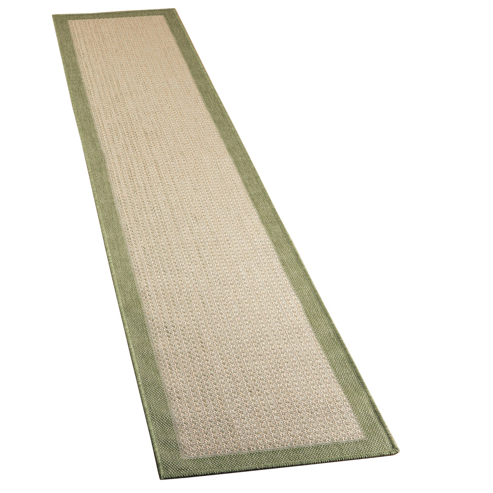 Outdoor Indoor Extra Long Natural Jute Floor & Hallway Runner Accent Rug with Border,... by Collections Etc