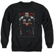 Man Of Steel Man Behind Mens Crewneck Sweatshirt