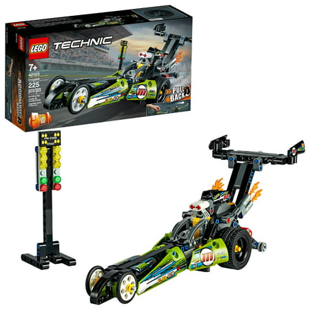 LEGO Technic Dragster Pull-Back Racing Toy Building Kit 42103