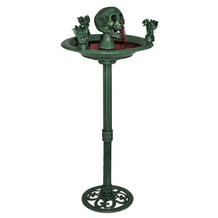 Creepy Skull Gargoyle Water Bird Bath Fountain Halloween Prop Decor - Halloween Birds