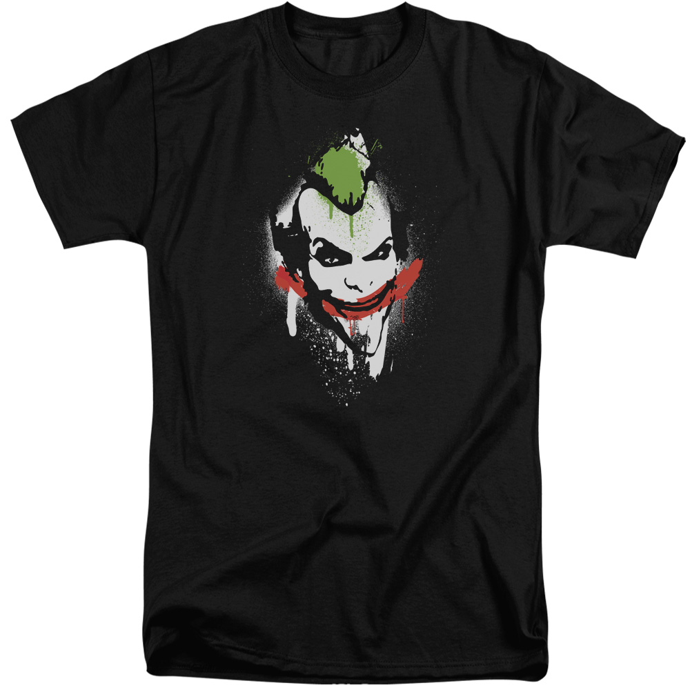Arkham City Spraypaint Smile Mens Big and Tall Shirt