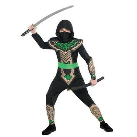 Deluxe Dragon Slayer Ninja Costume Child Boys Large LG 12 - - Vampire Slayer Costumes