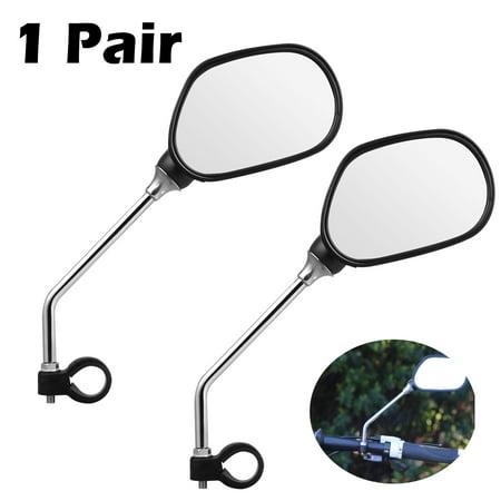EEEkit 1 Pair Bike Mirror, Adjustable Handlebar Rear View Mirrors for Bicycle Mountain Road Bike, Fit for 22mm - 25mm