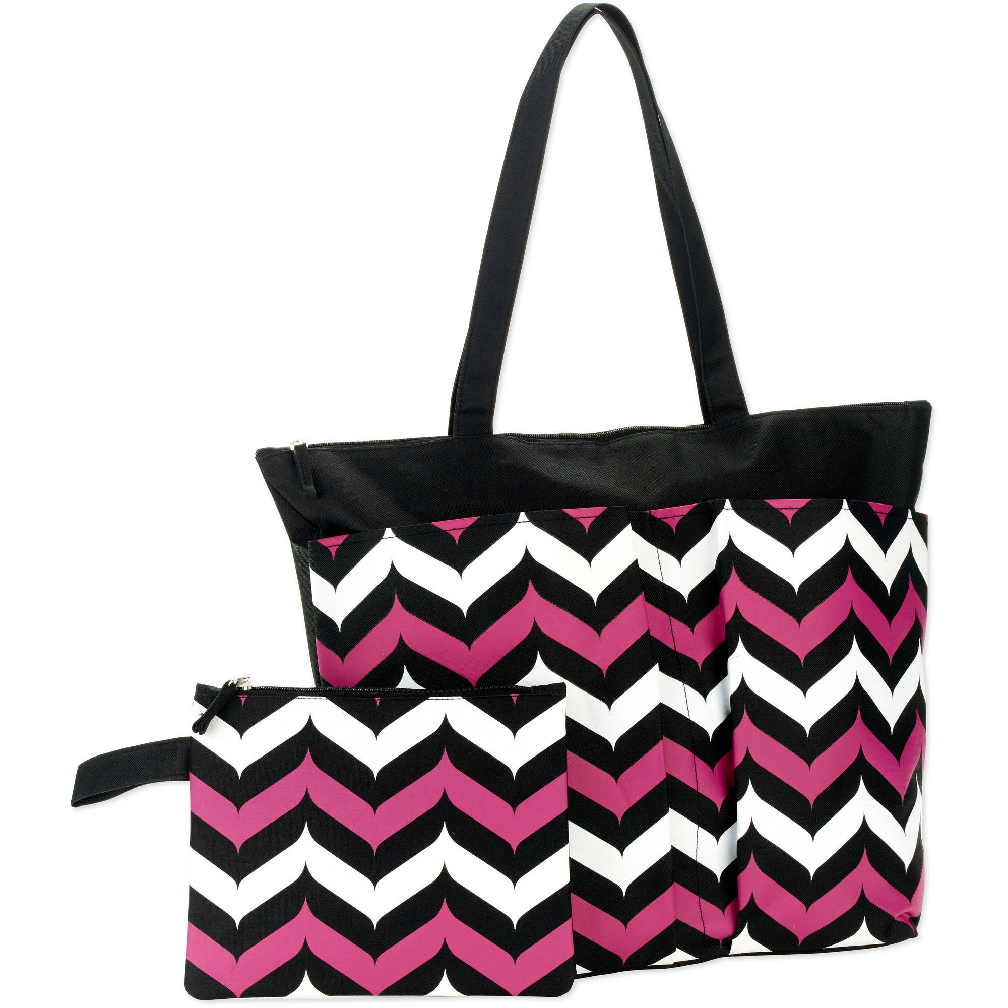 Women's Double Pocket Beach Tote and Bikini Bag