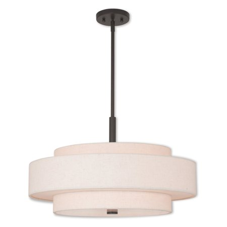 Livex Lighting Meridian 5 Light Pendant (Livex Lighting Iron Pendant)