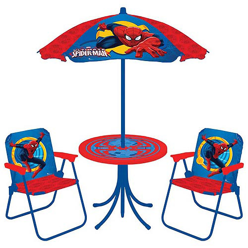 Marvel Ultimate Spider-Man 4-Piece Patio Table and Chairs Set
