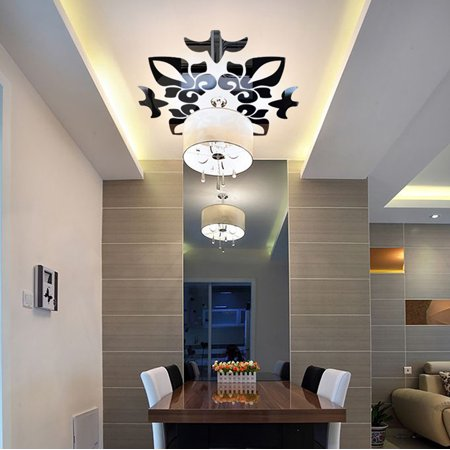 Creative Abstract Acrylic Style 3D Wall Stickers Mirror Ceiling Wall Mirrors BK