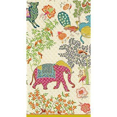 caspari entertaining 15-pack le jardin de mysore guest towels Caspari Guest Towels